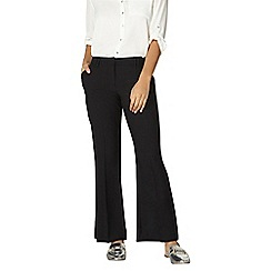 Dorothy Perkins - Short black bootcut trousers