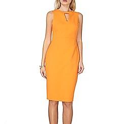 Dorothy Perkins - Orange keyhole dress