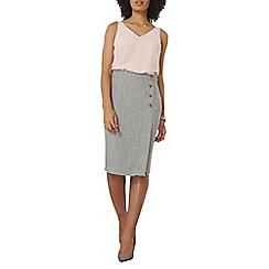 Dorothy Perkins - Herringbone button skirt