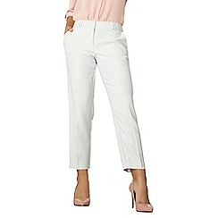 Dorothy Perkins - Ivory and grey ankle grazer trousers