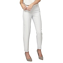 Dorothy Perkins - Ivory and grey textured ankle grazer trousers