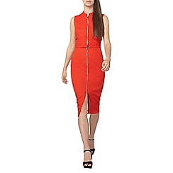 Dorothy Perkins - Tall red waffle pencil dress