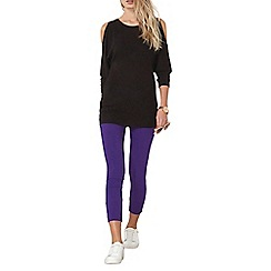 Dorothy Perkins - Purple pull on bengaline trousers