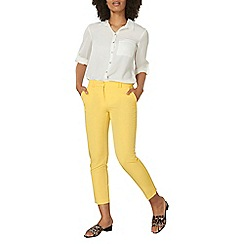 Dorothy Perkins - Yellow ankle grazer trousers