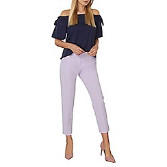 Dorothy Perkins - Lilac ankle grazer trousers