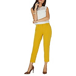 Dorothy Perkins - Ochre yellow double loop ankle grazer trousers