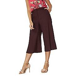 Dorothy Perkins - Port split side wide crop trousers