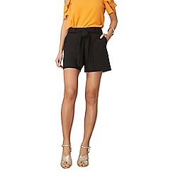 Dorothy Perkins - Black crepe tie shorts