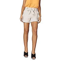 Dorothy Perkins - Mink crepe tie waist shorts