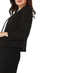 Dorothy Perkins - Black tailored collarless jacket