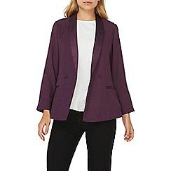 Dorothy Perkins - Purple soft throw on blazer