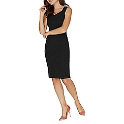 Dorothy Perkins - Black fold neck pencil dress