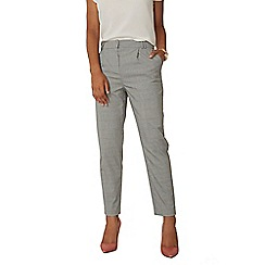 Dorothy Perkins - Black and white Prince of Wales check trousers