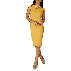 Dorothy Perkins - Ochre short sleeves pencil dress