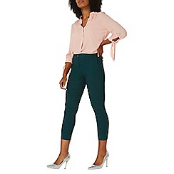 Dorothy Perkins - Green textured skinny trousers