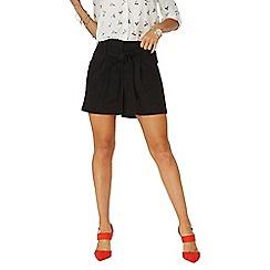 Dorothy Perkins - Black tie shorts