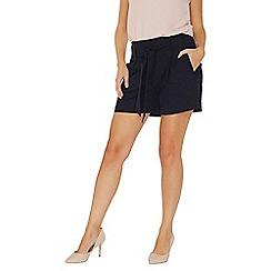 Dorothy Perkins - Navy tie waist shorts