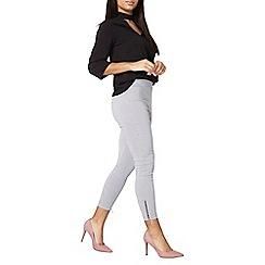 Dorothy Perkins - Gingham zip bengaline trousers