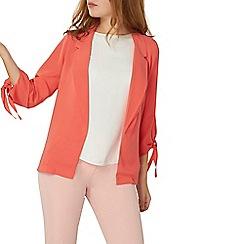 Dorothy Perkins - Coral tie sleeve jacket