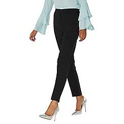 Dorothy Perkins - Black regular tab front trousers
