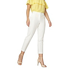 Dorothy Perkins - Ivory double loop ankle grazer trousers