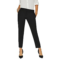 Dorothy Perkins - Black slim leg textured trousers