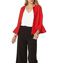 Dorothy Perkins - Red flute sleeves jacket