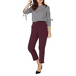 Dorothy Perkins - Berry button trousers