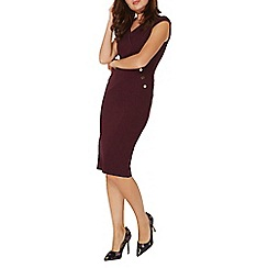 Dorothy Perkins - Berry button pencil dress