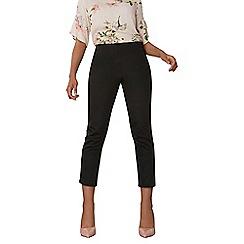 Dorothy Perkins - Side zip crop cotton sateen trousers