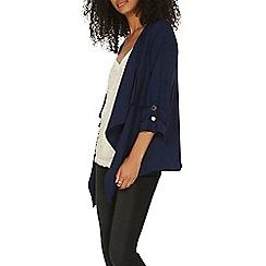 Dorothy Perkins - Navy waterfall button jacket