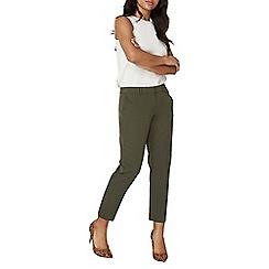 Dorothy Perkins - Khaki double loop ankle grazer trousers