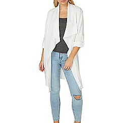 Dorothy Perkins - Ivory waterfall duster jacket