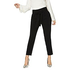 Dorothy Perkins - Black tapered tie trousers