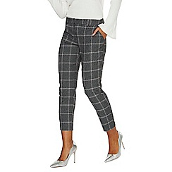 Dorothy Perkins - Grey checked slim leg ankle grazer trousers