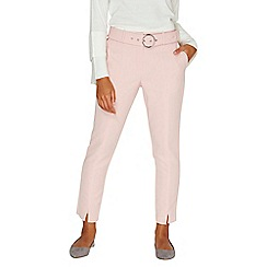 Dorothy Perkins - Blush circle buckle trousers