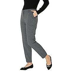 Dorothy Perkins - Grey mini check ankle grazer trousers