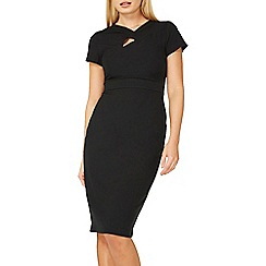 Dorothy Perkins - Black twist detail pencil dress
