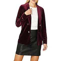 Dorothy Perkins - Berry red velvet blazer jacket
