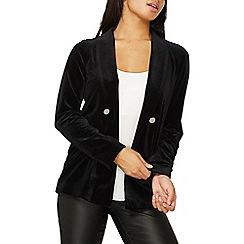 Dorothy Perkins - Black velvet blazer jacket