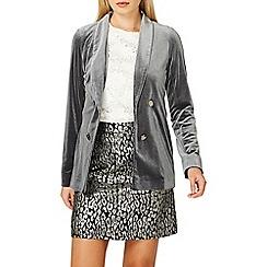 Dorothy Perkins - Slate grey velvet jacket