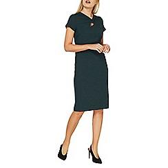 Dorothy Perkins - Green twist neck pencil dress