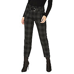 Dorothy Perkins - Check d-ring tapered trouser