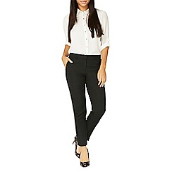 Dorothy Perkins - Black textured trousers