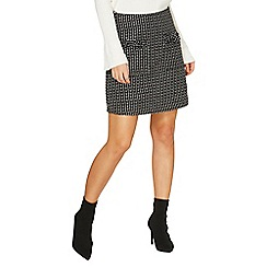 Dorothy Perkins - Monochrome boucle a-line skirt