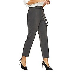 Dorothy Perkins - Charcoal tie ankle grazer trousers