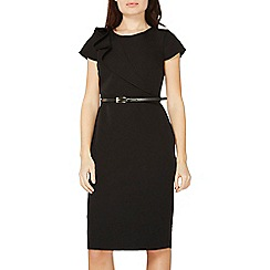 Dorothy Perkins - Black ruffle belted pencil dress