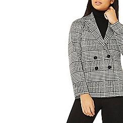 Dorothy Perkins - Monochrome checked print jersey jacket