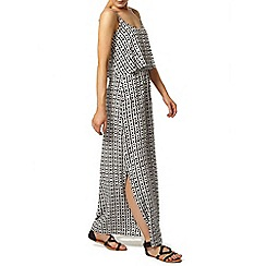 Dorothy Perkins - Black white double layer maxi dress