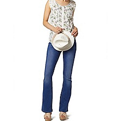 Dorothy Perkins - White butterfly lace shell top